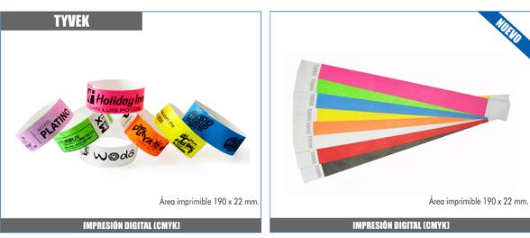23143989e44b Somos fabricantes de las pulseras de papel tyvek personalizadas en  cuatricomia a todo color. Fabrica de pulseras tyvek para accesos y control